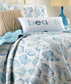 Blue Seashell Bedding
