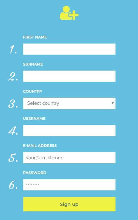 """Lengkapi Formulir pendaftaran yang diminta.  Isilah Formulir tersebut dengan benar sesuai data Anda, jika sudah klik """"Sign Up""""."""