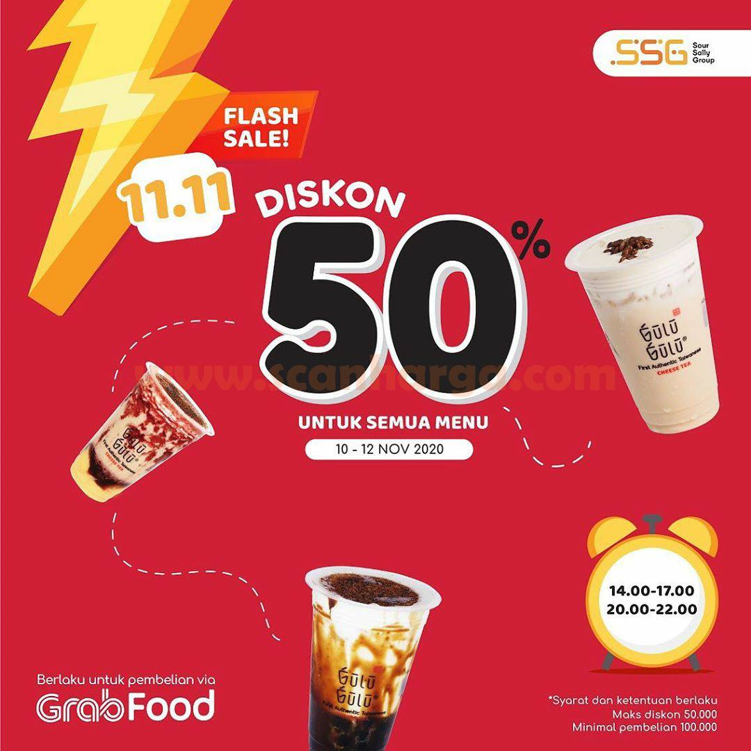 Gulu Gulu Promo 11.11: Flash Sale Diskon 50%