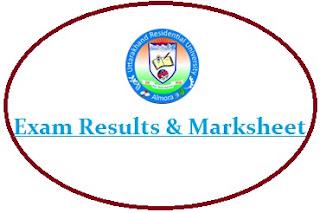 Uttarakhand Residential University Result 2021