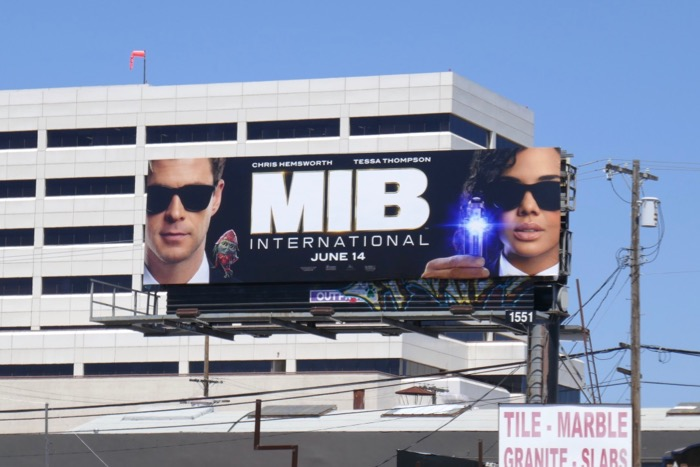 Men in Black International billboard