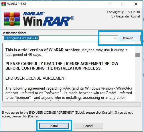 Setting Folder Installer