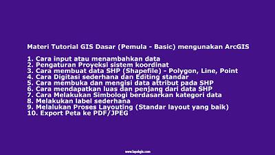 Tutorial GIS Dasar (Level Basic) mengunakan ArcGIS