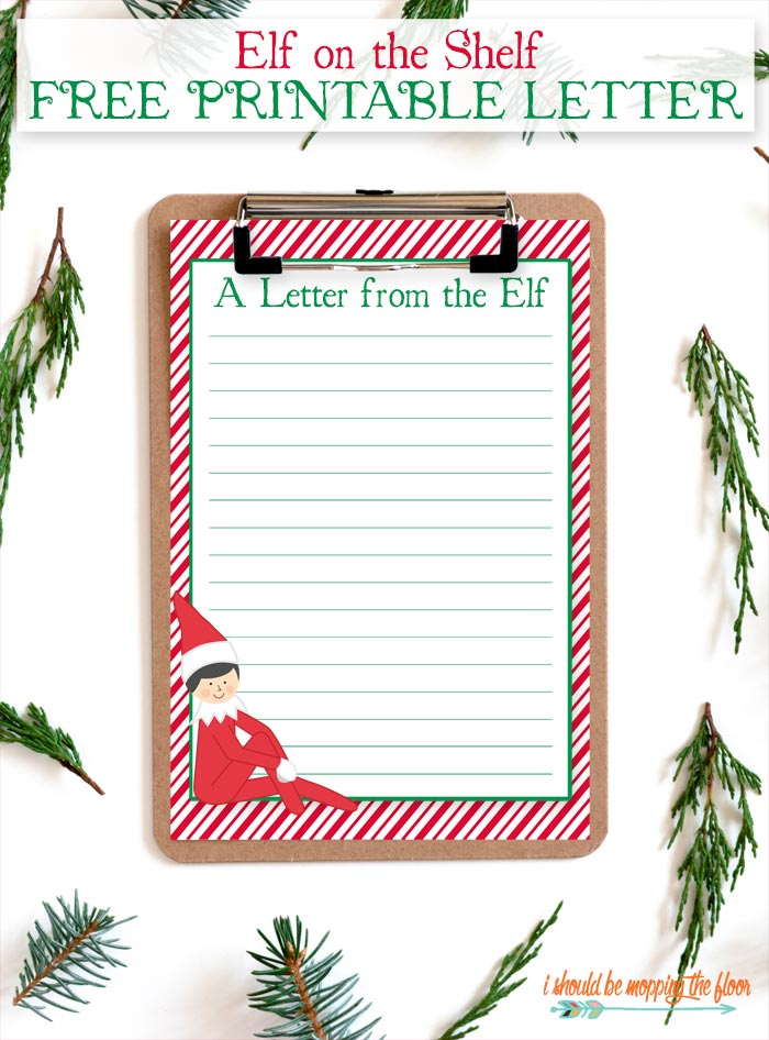 Elf on the Shelf Printable Letter