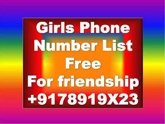 Girls Phone Number List   Phone Number For Girls   Girls Mobile Number