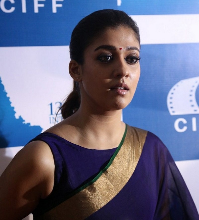 Nayantara Latest Stills In Very Hot Blue Saree