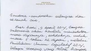 surat untuk presiden