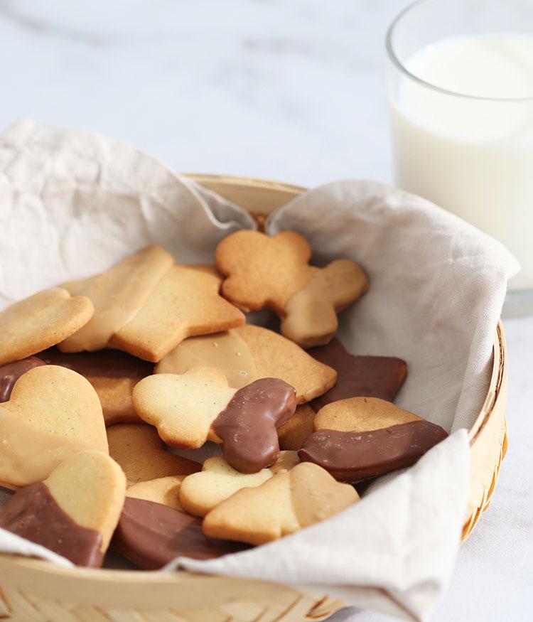 Sablés à la vanille et au chocolat