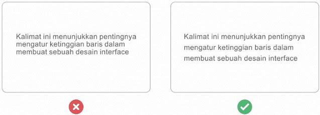 Tips Tipografi Desain Interface Dengan Mengatur Tinggi Baris