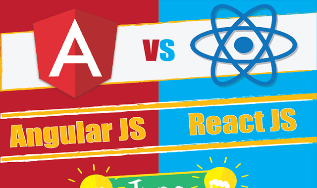 AngularJS versus ReactJS: Who's the Best? #infographic