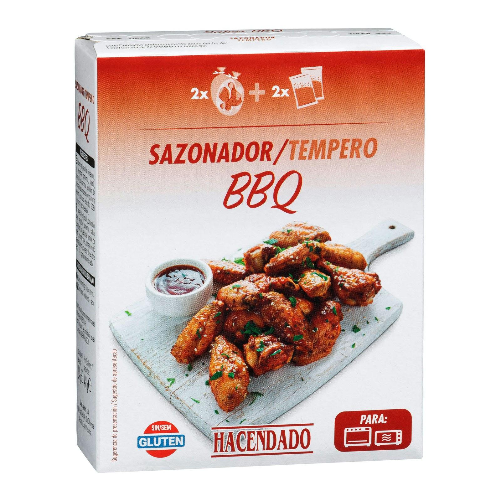 Productos Mercadona Sazonador Con Bolsa Para Carne Sabor Barbacoa Bbq Hacendado