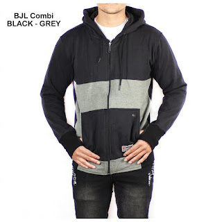 JAKET FLEECE PRIA BJL COMBI BLACK GREY