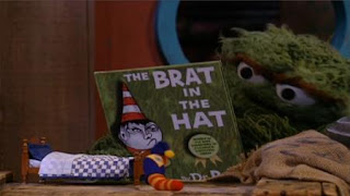Oscar reads Slimey another chapter of The Adventures of Trash Gordon. Sesame Street Bedtime with Elmo