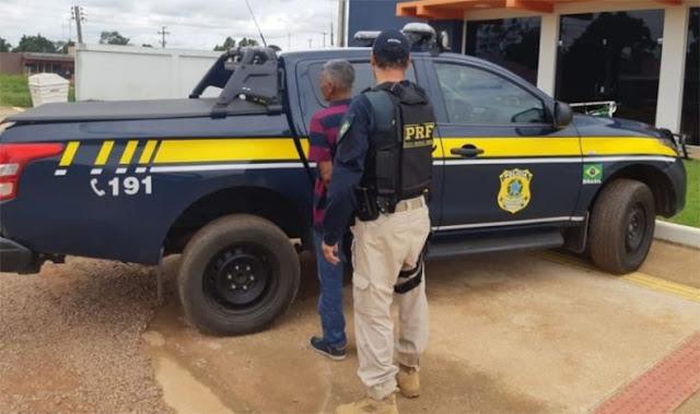 Foragido por estupro de vulnerável é preso pela PRF a caminho de Guajará-Mirim