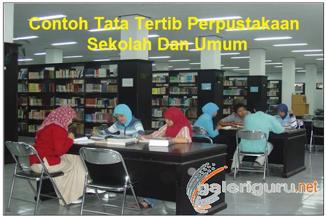 Contoh Tata Tertib Perpustakaan Sekolah Dan Umum