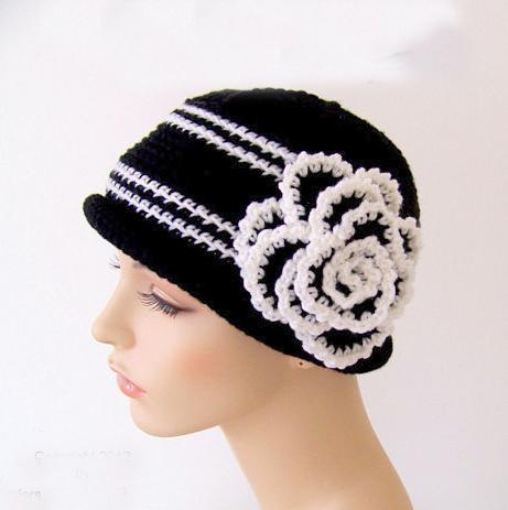 Rose flower hat Crochet Pattern
