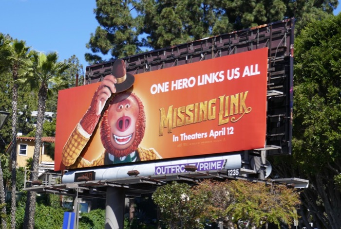 Missing Link moving hand hat billboard