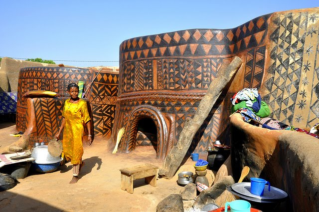 african architecture gurunsi africa west ghana traditional homes tribe ancient burkina culture northern frescoes kassena buildings houses adobe faso nigeria