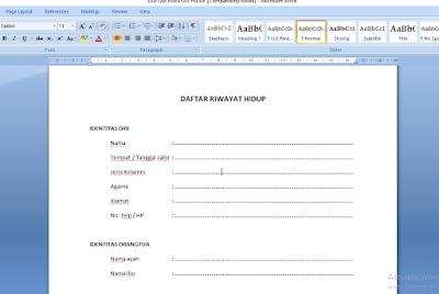 Menampilkan ruler atau penggaris pada microsoft word