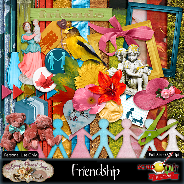 "July Scrap Twist Blogtrain - ""Friendship"""