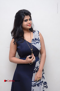 Telugu Actress Alekhya Stills in Blue Long Dress at Plus One ( 1) Audio Launch  0091.jpg