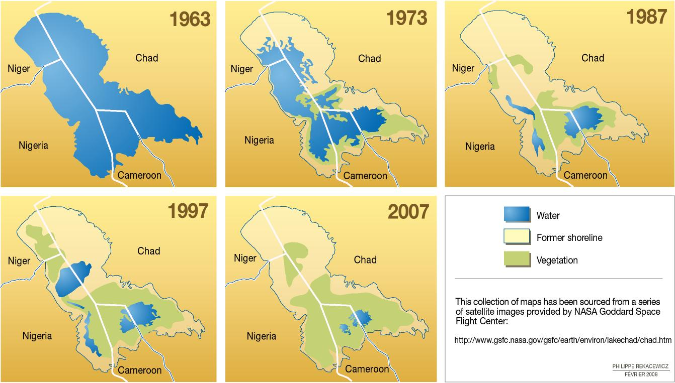 The shrinking of Lake Chad