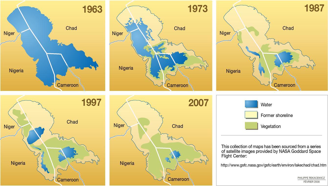 The shrinking of Lake Chad