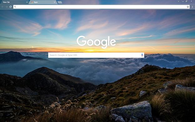 Dawn Mountain Google Theme