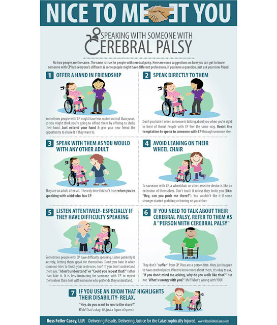 a service user with cerebral palsy
