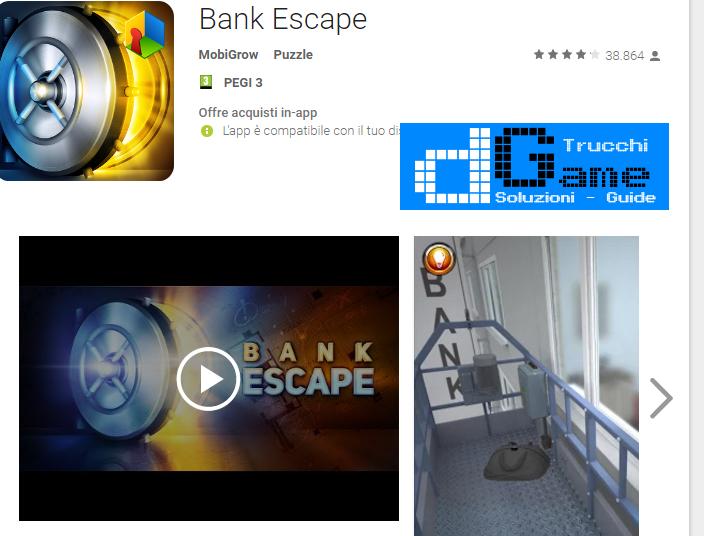 Soluzioni Bank Escape di tutti i livelli | Walkthrough guide