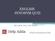 SSC ENGLISH IMPORTANT SYNONYMS QUIZ