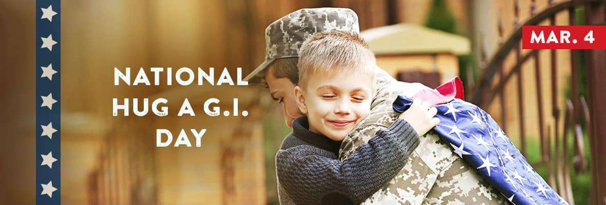 National Hug a G.I. Day Wishes for Instagram