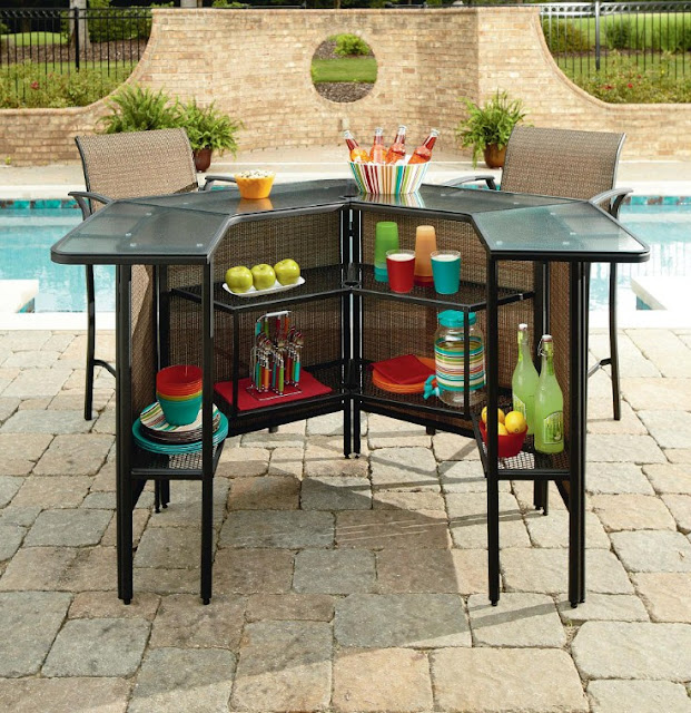 outdoor patio bar furniture garden oasis set