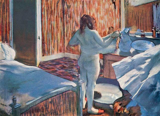 Эдгар Дега - Женщина за своим туалетом (1876-1877)