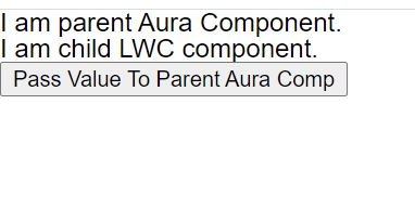 How to pass value from child LWC to parent AURA component