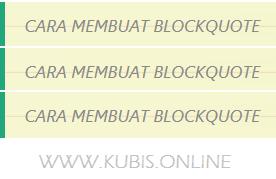 2 Cara Membuat Blockquote Keren Dengan CSS Di Blog