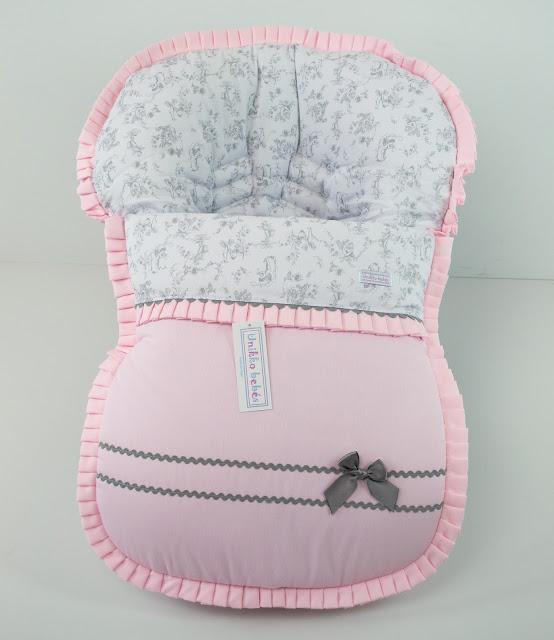 vestidura maxicosi rosa gris