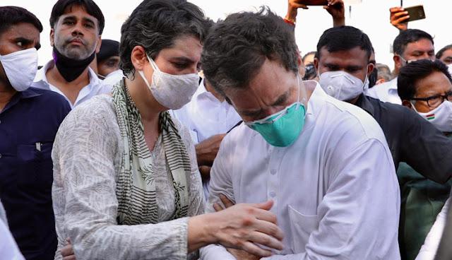 यूपी पुलिस ने राहुल गांधी को किया गिरफ्तार, धक्कामुक्की में जमीन पर गिरे, लगी चोट