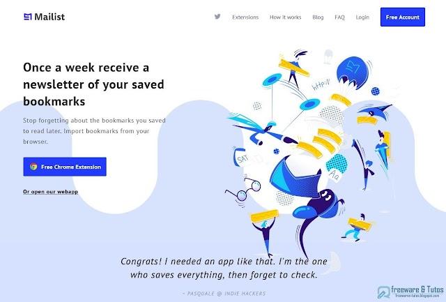 Mailist : un outil de bookmarking pour sauvegarder des articles à lire plus tard