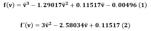 Ecuciones para ser utilizadas con el método de Newton-Raphson