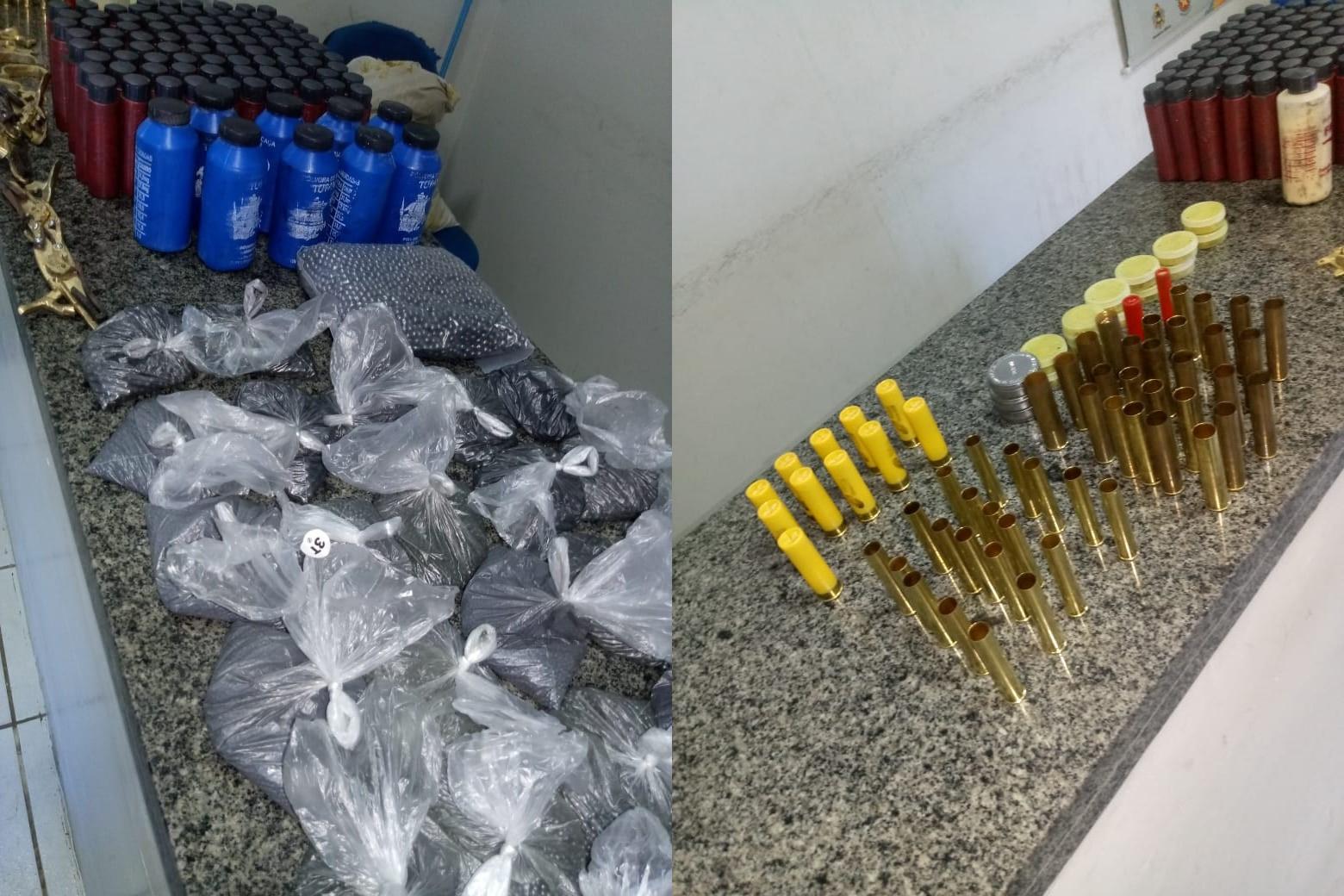 Polícia Militar de Água Doce apreende grande quantidade de munições que estavam sendo comercializadas ilegalmente.