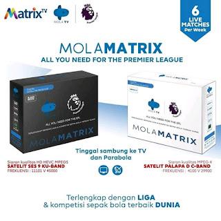 Reciver baru Mola tv di Parabola MolaMatrix