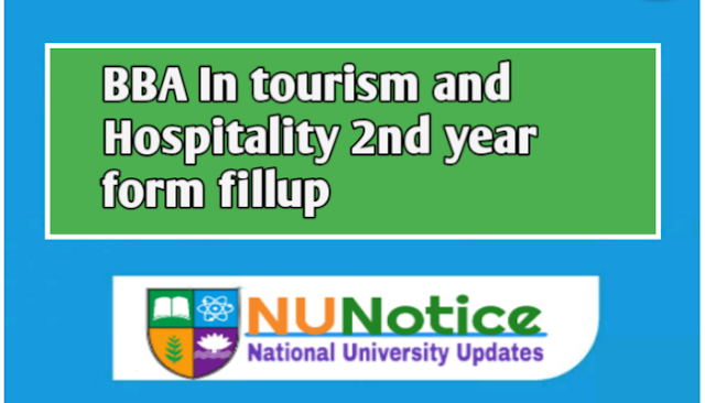 Honours in tourism and Hospitality Management form fillup