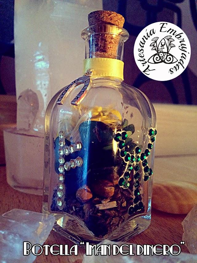 """Botella de bruja """"Imán del dinero"""""""