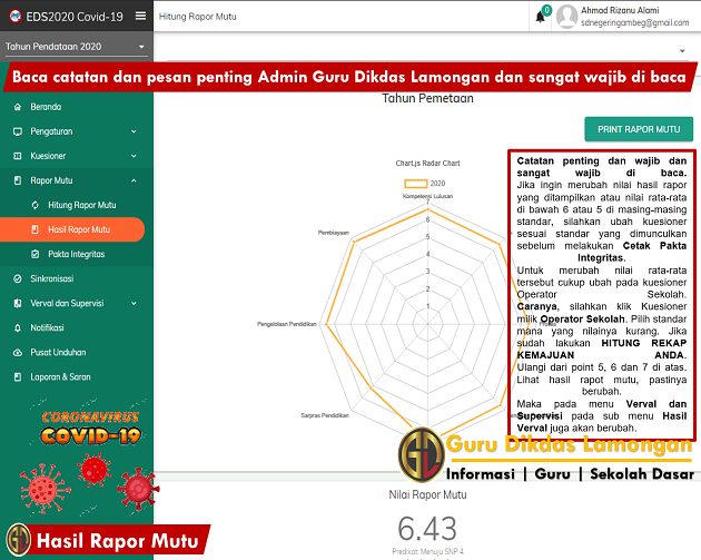 Instalasi PATCH Aplikasi EDS 2020 Covid-19 Hingga Sinkronisasi