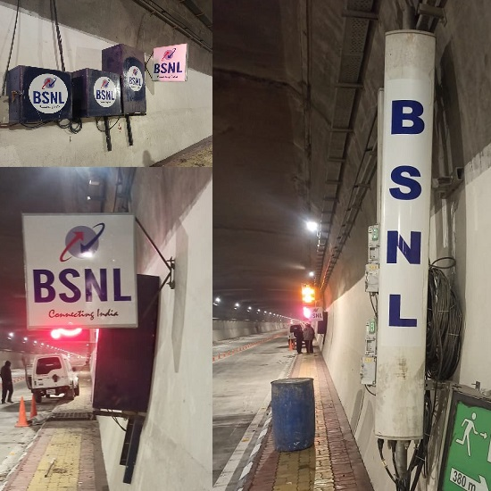 BSNL launched 4G services in high security strategic Atal Tunnel at Rohtang to meet the strategic requirements in frontier areas