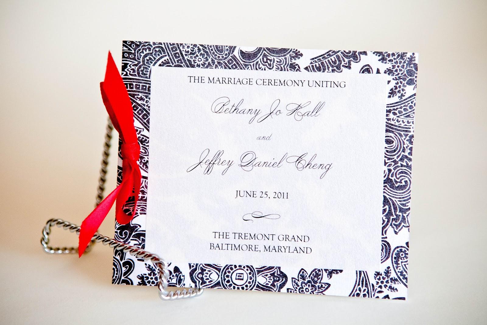 wedding program baltimore small booklet kindly rsvp designs blog