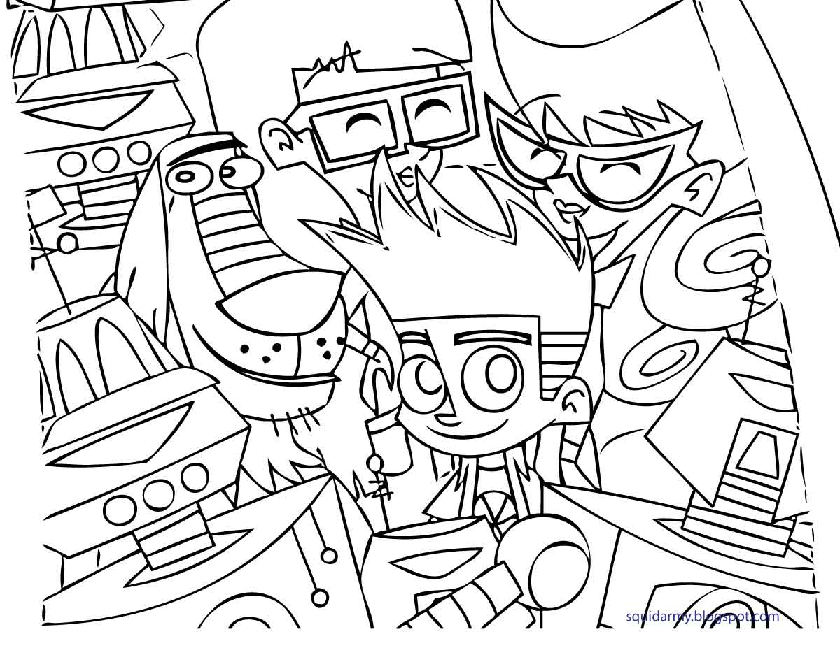 johnny test coloring pages - johnny test coloring pages squid army