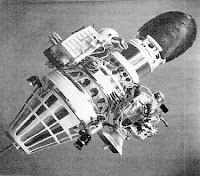 Una riproduzione della sonda sovietica Luna 4.