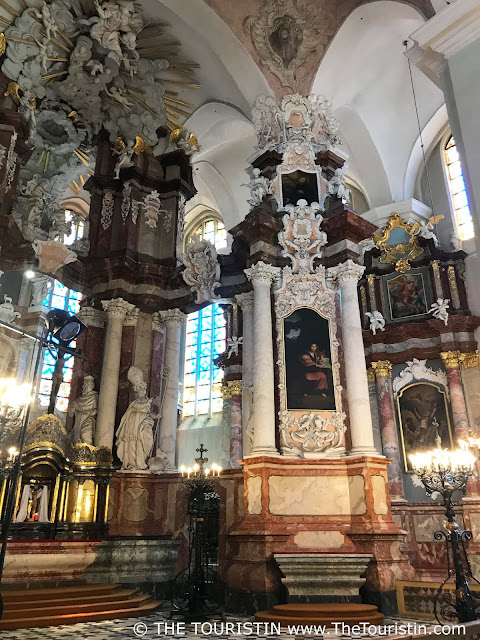 Interior of the Church of Saint John in Vilnius in Lithuania.
